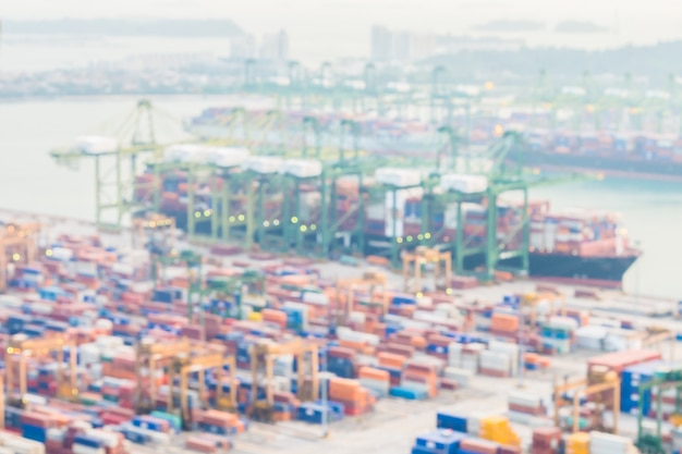 Abstract blur shipping crane cargo background