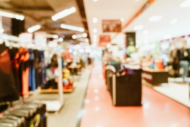 배경에 대 한 쇼핑몰에서 추상 흐림 상점 및 소매점