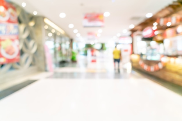 背景の抽象的なぼかしショップとショッピングモールの小売店