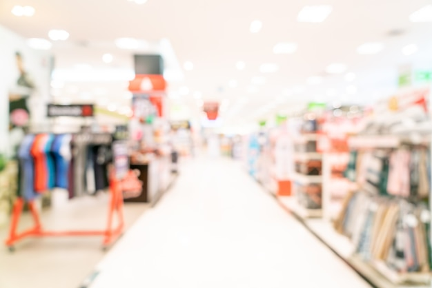 Abstract blur shop and retail store in shopping mall for background