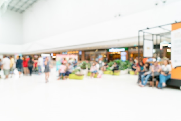 Abstract blur shopping mall or department store interior for background