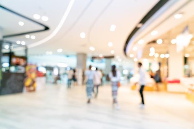 Абстрактный размытия торговый центр или универмаг интерьер для фона