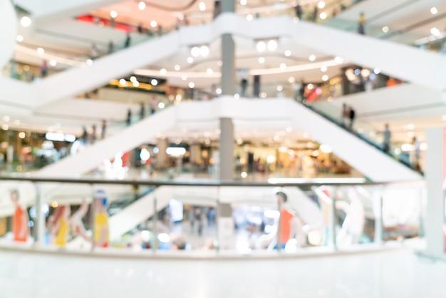 배경에 대 한 추상 흐림 쇼핑몰 또는 백화점 인테리어