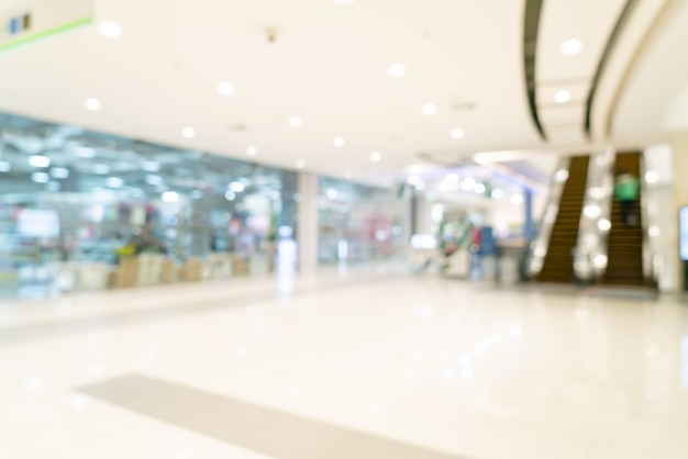 Abstract blur shopping mall and retail store