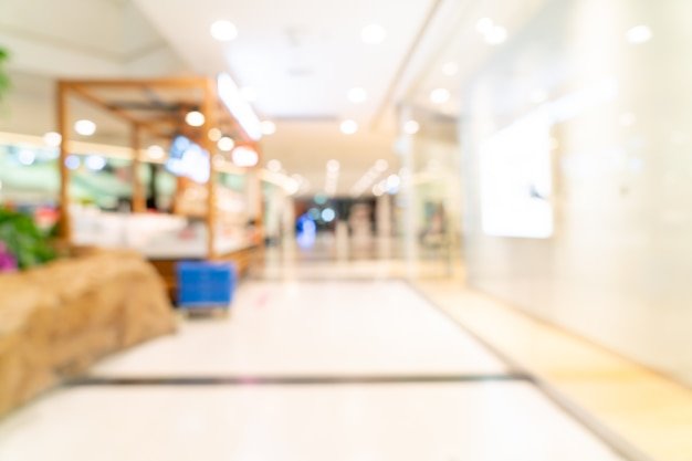 Abstract blur shopping mall for