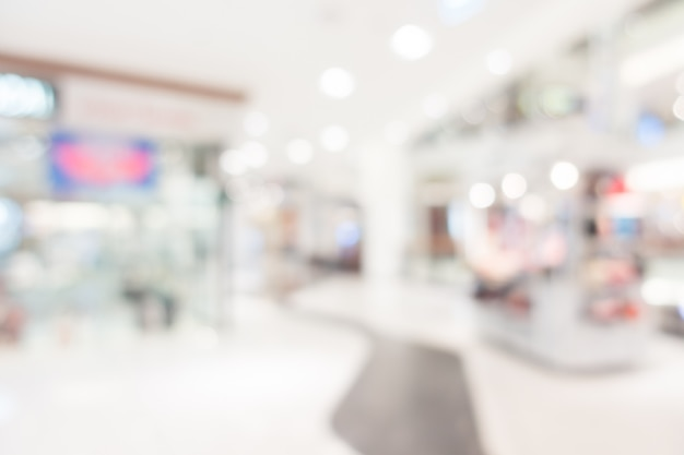 Abstract blur shopping mall