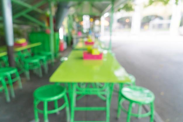 Abstract blur in street restaurant