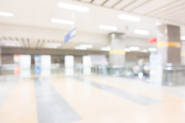 Abstract blur subway station