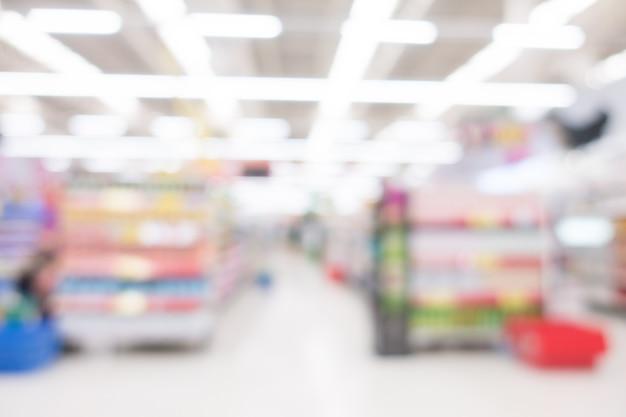 Abstract blur supermarket