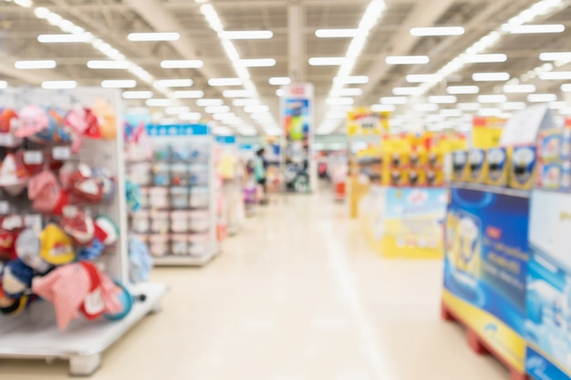 抽象ぼかしスーパーマーケット