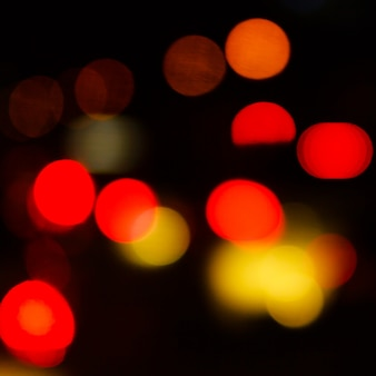 Abstract blur traffic light and night
