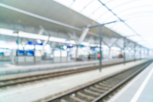 Abstract blur in train station