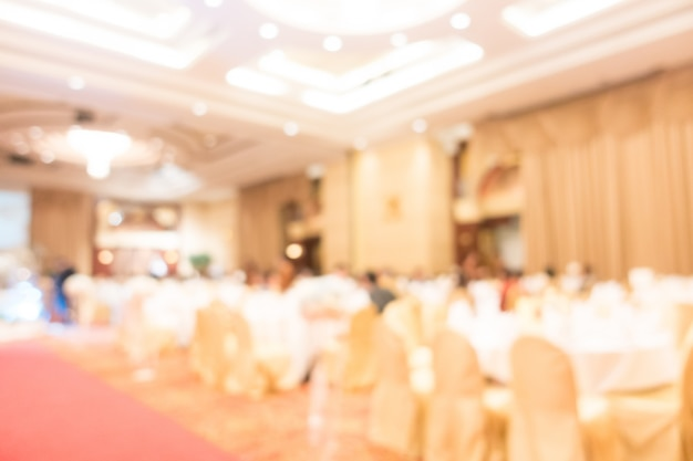 Abstract blur wedding hall