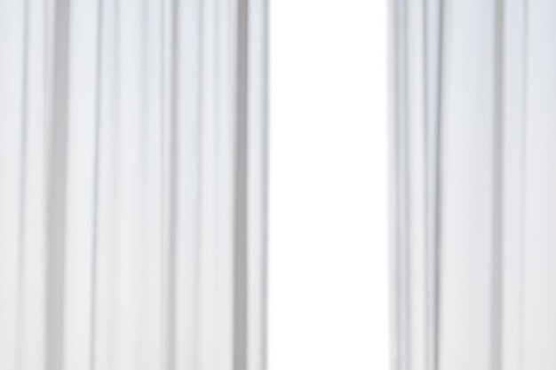 Абстрактные размытия белые шторы, изолированные на белом фоне
