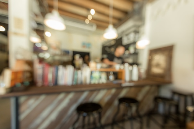 Abstract blurred background cafe