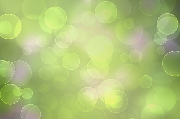 ボケ効果のある抽象的なぼやけた背景。焦点がぼけた緑のボケ味の背景。