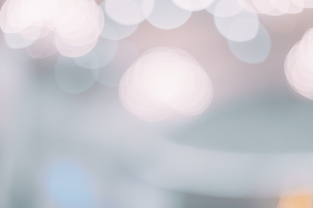 Abstract blurred bokeh light at church with warm tone color background concept.