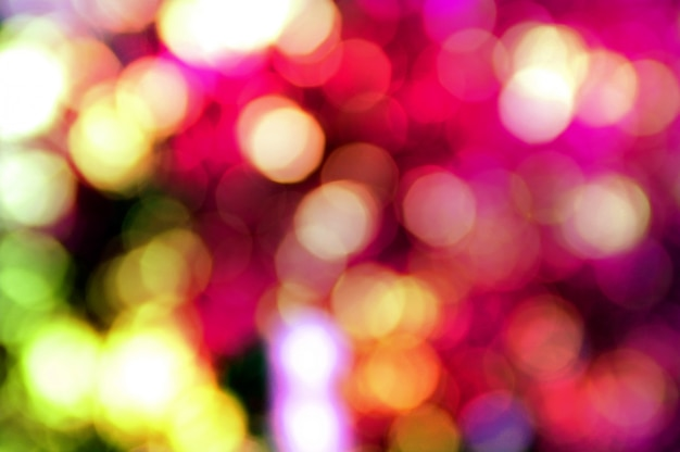 Abstract blurred bokeh lights