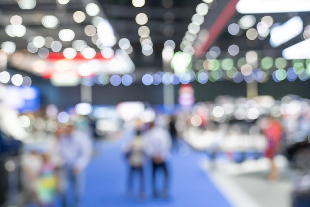 Abstract blurred defocused trade event exhibition background