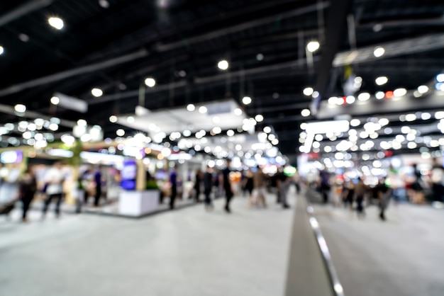Abstract blurred defocused tradeshow event exhibition.