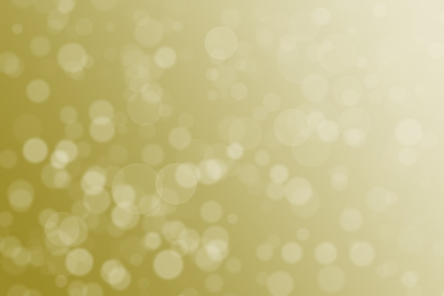 Abstract blurred gold color circle bokeh background