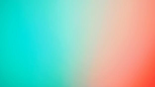 抽象的なぼやけたグラデーションの背景。マルチカラーの赤とミントグリーンまたはティファニーブルーの背景。バナーテンプレート。