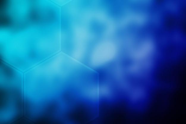 Abstract blurred hexagon texture background dark blue gradient