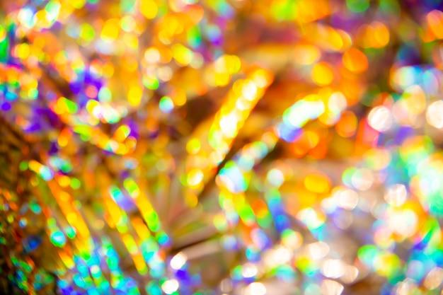 抽象的なぼやけたホログラフィック虹色の人魚箔のテクスチャ。