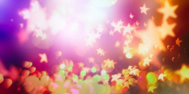 抽象的なぼやけた光の背景、ボケの光と星とお祭りエレガントな抽象的な背景
