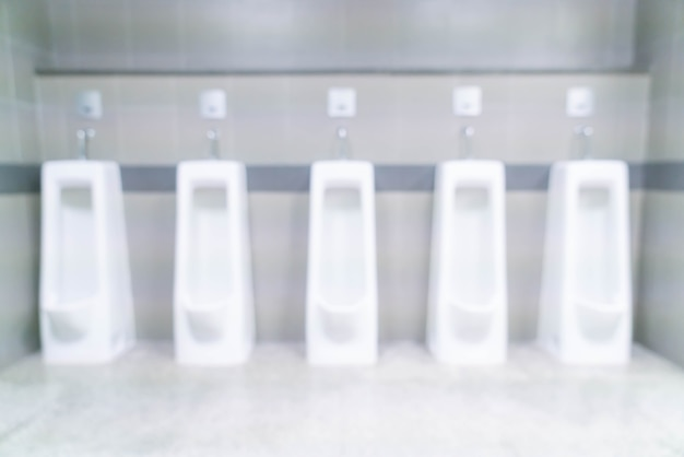 Abstract blurred men toilet