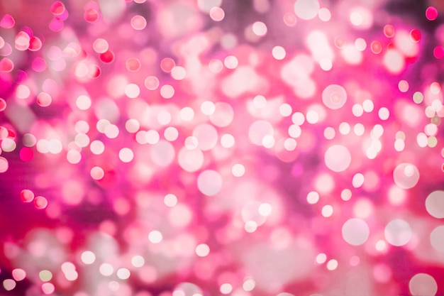 Abstract blurred pink color bokeh background