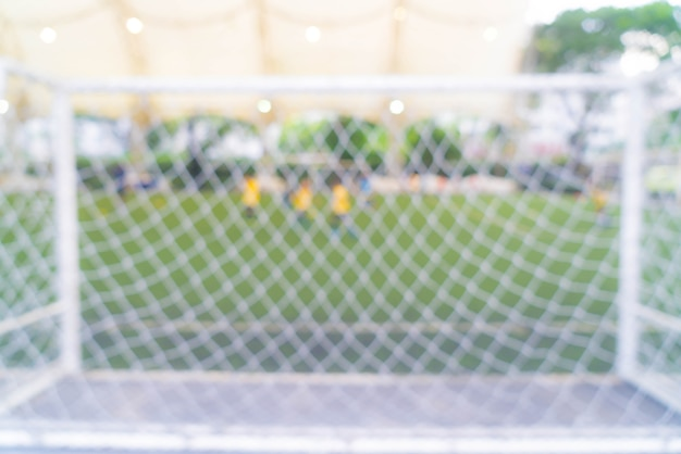 Abstract blurred soccer field