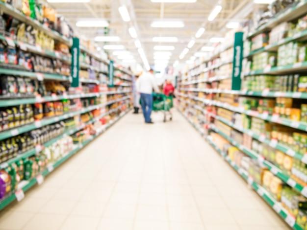 Аннотация размытым проходу супермаркета