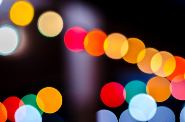 Abstract bokeh around office in night