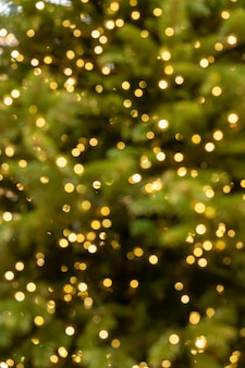 Abstract bokeh background blurred garland led lights