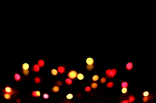 Abstract bokeh background on night