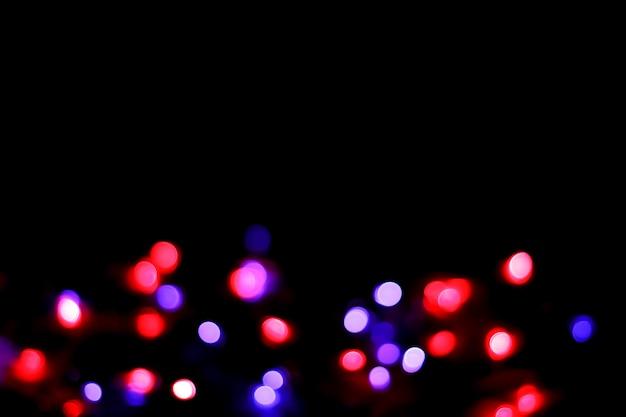 夜の抽象的なbokehの背景