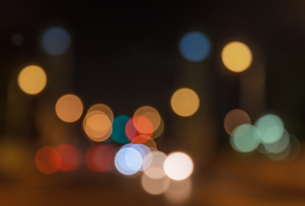 Abstract bokeh background of street lights