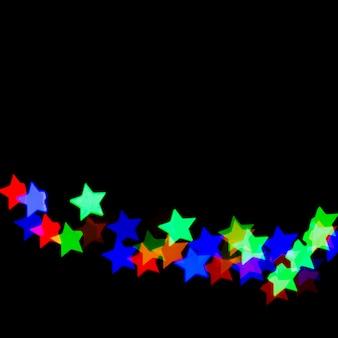 Bokeh astratto con luci a forma di stella