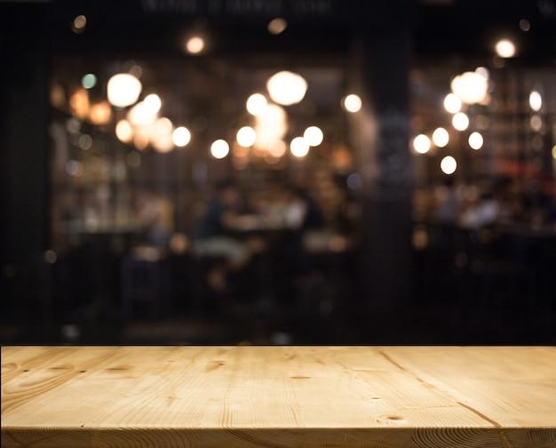 Abstract bokeh blur nigh restaurant background