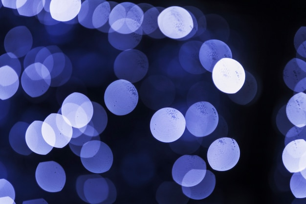 Abstract bokeh blurred blue light backdrop