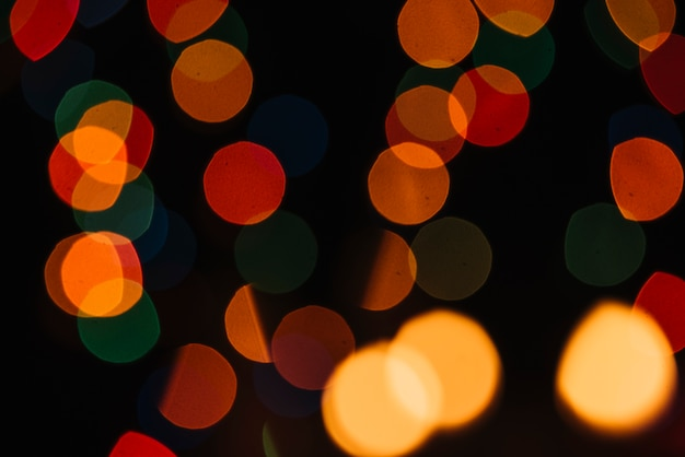 Abstract bokeh blurred golden light background