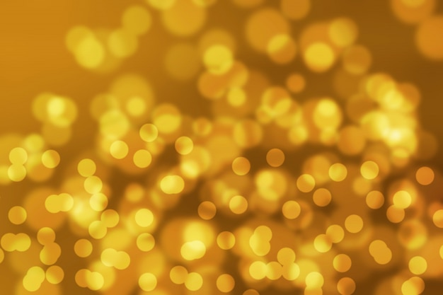 Abstract bokeh gold color background