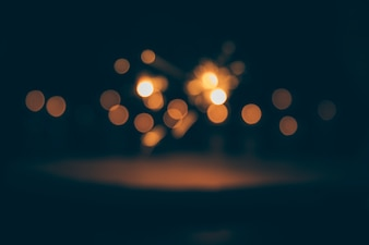 Abstract bokeh lights on dark background