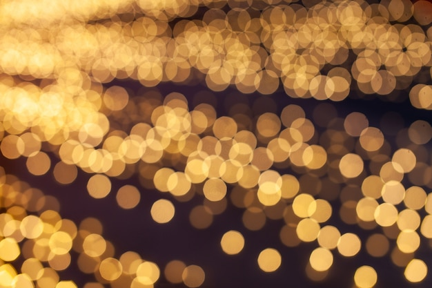 Abstract bokeh night in city background.