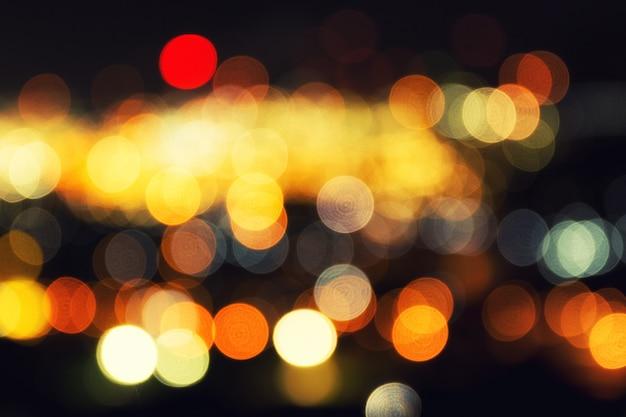 Abstract bokeh night city