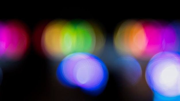Abstract bokeh night with city neon lights