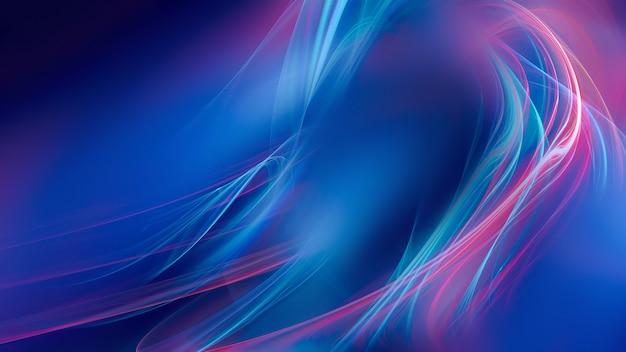 Абстрактный яркий фон с сияющими неоновыми линиями