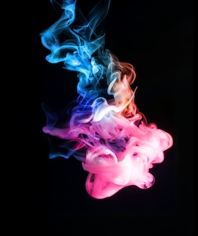 Abstract bright and beautiful color smoke
