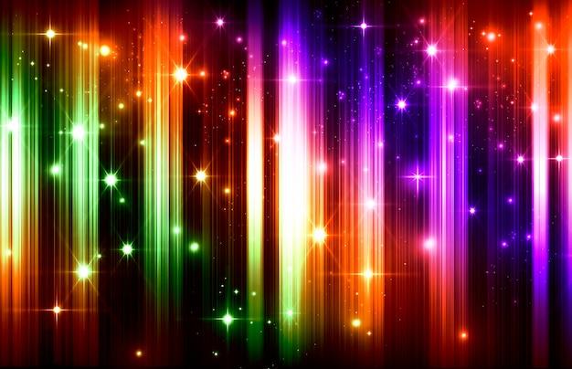 추상 밝은 크리스마스 여러 가지 빛깔된 그라데이션 bokeh 별 반짝이 배경 흐리게